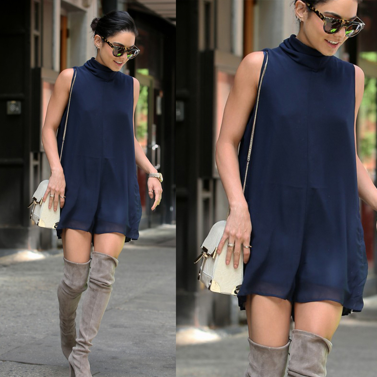 LOOK FOR LESS: Vanessa Hudgens in NYC